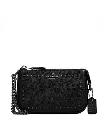 Coach Edge Studs Nolita Wristlet 15 in Leather