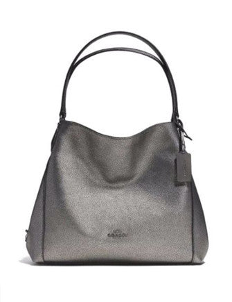 Coach Edie Shoulder Bag 31 In Pebbled Leather