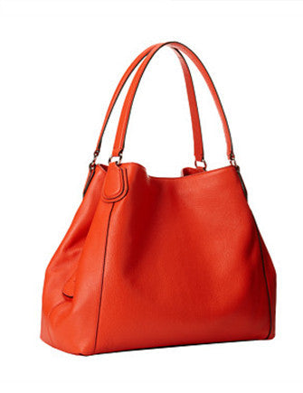 Coach Edie Pebbled Leather Shoulder Bag