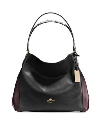 Coach Edie Bag 31 In Colorblock Exotic Embossed Leather