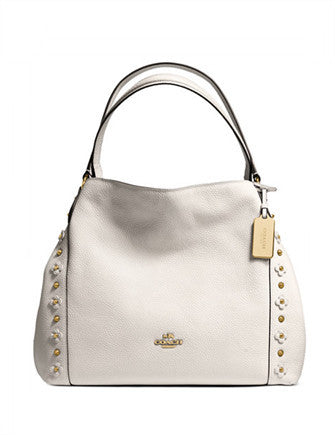 Coach Edie Shoulder Bag 31 in Floral Rivets Leather