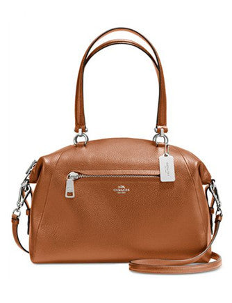 Coach Large Prairie Satchel in Pebble Leather
