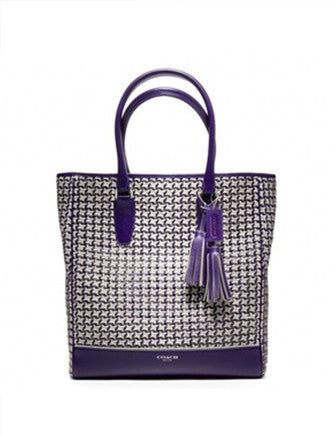 Coach Legacy Caning Woven Leather Tote