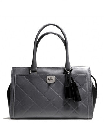 Coach Legacy Chelsea Carryall in Embossed Quilted Leather