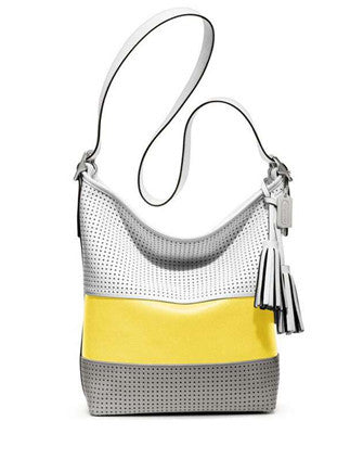 Coach Legacy Perforated Leather Dufffle Shoulder Bag