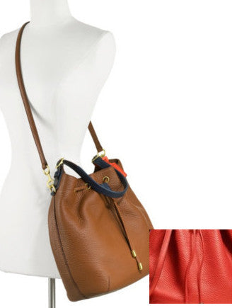 Coach Soft Legacy Pebbled Leather Drawstring Shoulder Bag