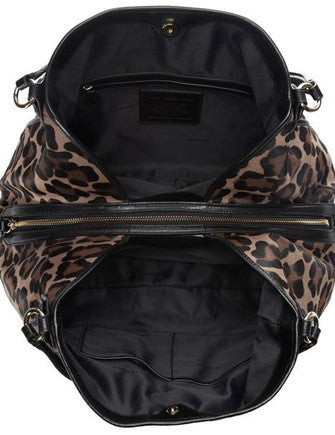 Coach Large Edie in Ocelot Print Haircalf