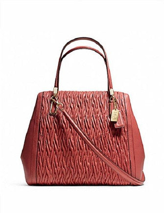Coach Madison Gathered Twist Leather North South Satchel