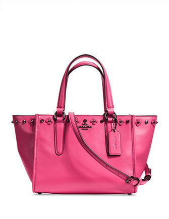 Coach Mini Crosby Carryall in Floral Rivets Leather