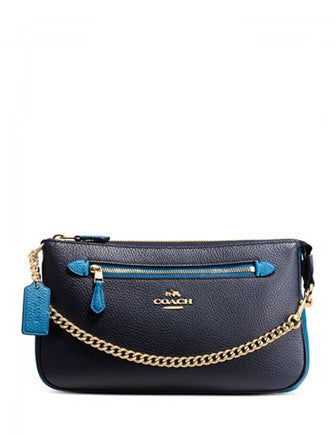 Coach Nolita Wristlet 24 in Colorblock Leather