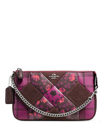 Coach Nolita Wristlet 24 in Patchwork Print Leather