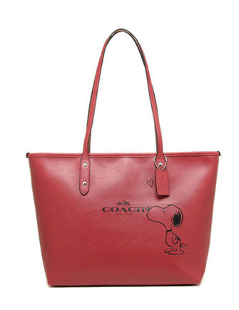 Coach X Peanuts Snoopy City Zip Tote