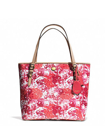 Coach Peyton Floral Print Zip Top Coated Canvas Tote