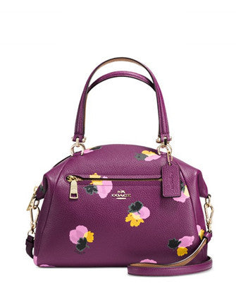 Coach Prairie Satchel in Floral Print Leather