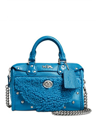 Coach Rhyder Satchel 18 In Shearling and Leather