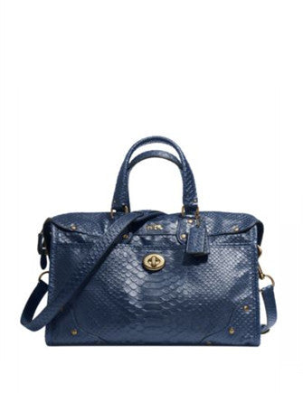 Coach Rhyder Satchel in Python Embossed Leather
