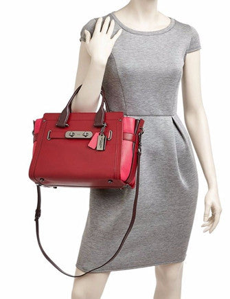 Coach Swagger Carryall Colorblock Leather Satchel