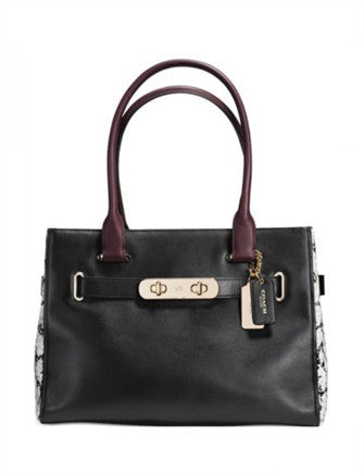 Coach Swagger Carryall in Color Block Exotic Embossed Leather