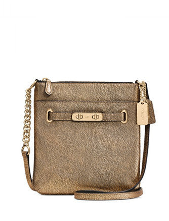 Coach Swagger Swingpack in Metallic Pebble Leather