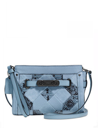 Coach Swagger Wristlet in Patchwork Exotic Leather
