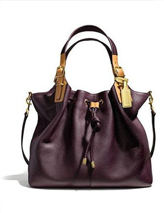 Coach Soft Legacy Pebbled Leather XLarge Drawstring Hobo