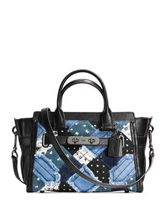Coach Swagger 27 in Canyon Quilt Denim Satchel
