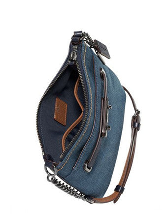 Coach Swagger Swingpack in Colorblock Denim