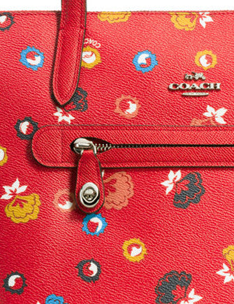Coach Taylor Tote in Floral Print Coated Canvas