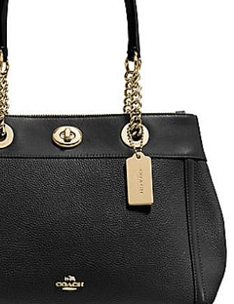 Coach Turnlock Edie in Polished Pebble Leather