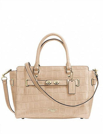 Coach Blake Carryall Croc Embossed Leather Satchel
