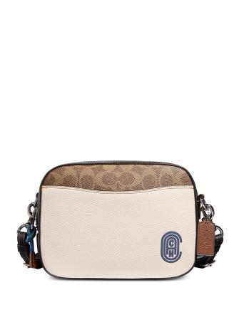 Coach Camera Bag In Signature Leather With Patch