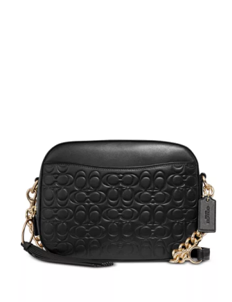 Coach Signature Embossed Leather Camera Bag