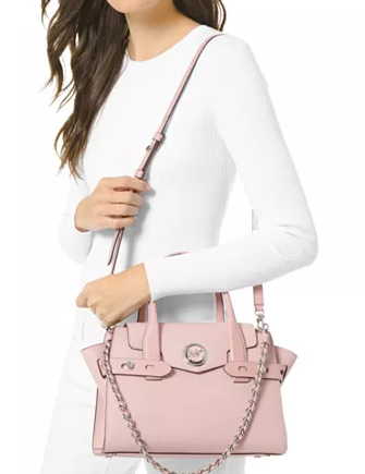 Michael Michael Kors Carmen Small Flap Belted Leather Satchel