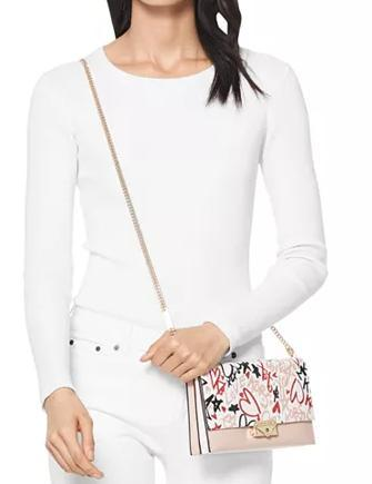 Michael Michael Kors CeCe Small Leather Clutch Crossbody