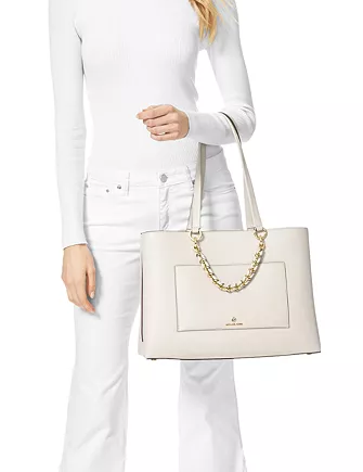 Michael Michael Kors Cece Medium Ribbon Chain Leather Tote