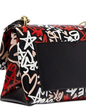 Michael Michael Kors Cece Graffiti Print Leather Small Shoulder Bag