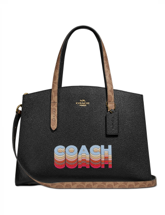 Coach Charlie Carryall In Signature Canvas Blocking By Tyler Spangler