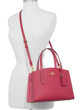 Coach Colorblocked Charlie 28 Carryall in Pebble Leather