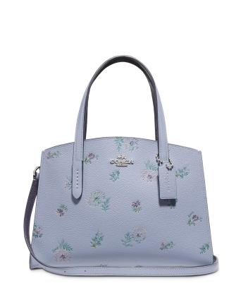 Coach Charlie Leather 28 Carryall In Meadow Print