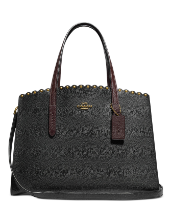 Coach Charlie Scalloped Leather Carryall