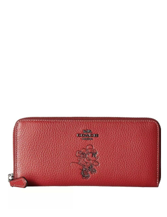 Coach X Disney Minnie Mouse Slim Accordion Wallet