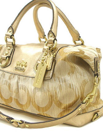 Coach Op Art Ikat Signature Metallic Sabrina Satchel