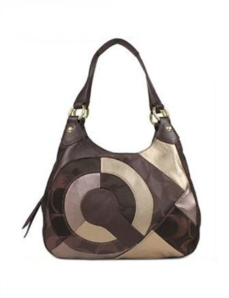 Coach Inlaid Signature Maggie Patchwork Hobo
