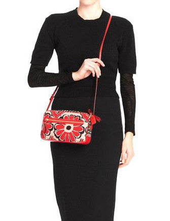 Coach Poppy Floral Scarf Flight Crossbody