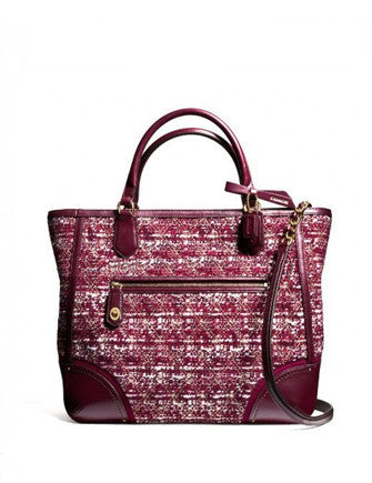 Coach Poppy Blaire Quilted Boucle Tote