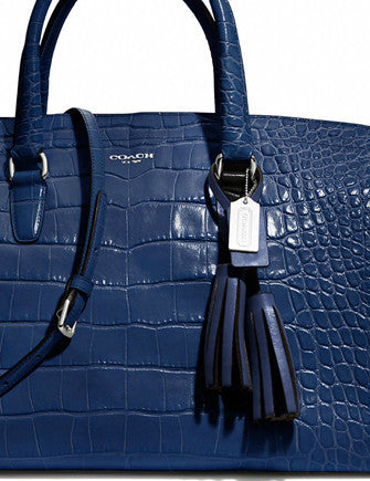 Coach Legacy Embossed Croc Large Lowel Satchel