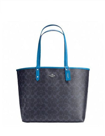 Coach Signature Reversible City Tote With Travel Pouch