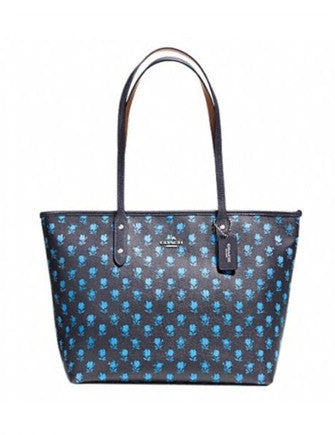 Coach City Zip Top Tote In Badlands Floral Print