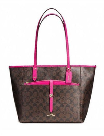 Coach Signature City Zip Tote with Pop Out Pouch