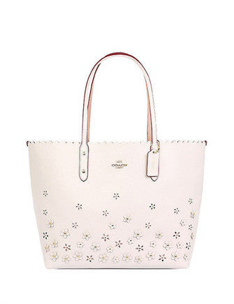 Coach Floral Crossgrain Applique Tote